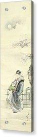 Courtesan Out For A Walk Acrylic Print by Katsushika Hokusai
