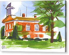 Courthouse On A Summers Evening Acrylic Print by Kip DeVore