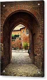 Courtyard Of Cathedral Of Ste-cecile In Albi France Acrylic Print by Elena Elisseeva