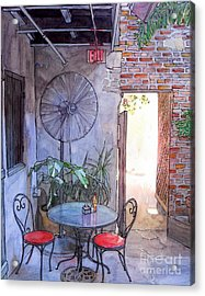 Courtyard Of The Napoleon House Acrylic Print by John Boles