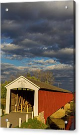 Covered Bridge Over The East Fork Acrylic Print by Chuck Haney