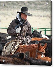 Cowboy Signature 9 Acrylic Print by Diane Bohna