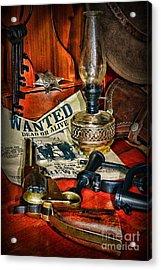 Cowboy - The Sheriff Acrylic Print by Paul Ward