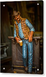 Cowboy Acrylic Print by Todd Reese