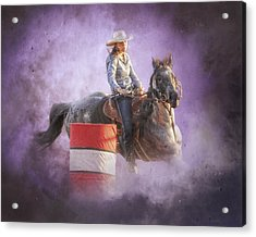 Cowgirls Dream Acrylic Print by Ron  McGinnis