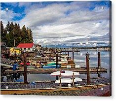 Cowichan Bay Vancouver Island Acrylic Print by Lynn Bolt