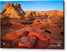 Coyote Buttes Acrylic Print by Inge Johnsson