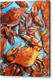Crab Pile Acrylic Print by JoAnn Wheeler