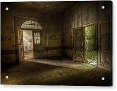Crack Of Light Acrylic Print by Nathan Wright