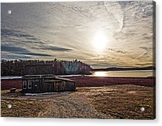 Cranberry Bog Winter Of 2012 Acrylic Print by Frank Winters