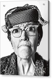 Cranky Old Lady Acrylic Print by Diane Diederich