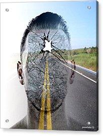 Crash II Acrylic Print by Paulo Zerbato