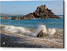 Crashing Of The Waves Acrylic Print by Athena Mckinzie
