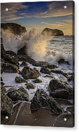 Crashing Sunset Acrylic Print by Rick Berk