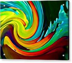 Crashing Wave Acrylic Print by Amy Vangsgard