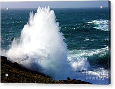 Crashing Wave Acrylic Print by Terri Waters