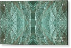 Crashing Waves Of Green 3 - Abstract - Fractal Art Acrylic Print by Andee Design