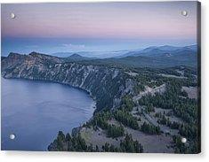 Crater Lake Sunset Acrylic Print by Melany Sarafis