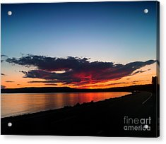 Crater Lake Yellowstone National Park Montana Acrylic Print by Thomas Woolworth