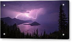 Crater Storm Acrylic Print by Chad Dutson