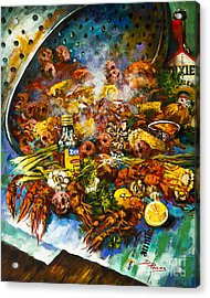 Crawfish Time Acrylic Print by Dianne Parks