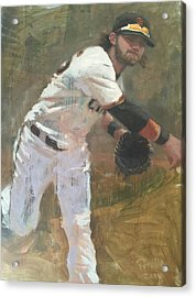 Crawford Throw To First Acrylic Print by Darren Kerr