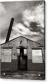 Crazy Old Building Acrylic Print by Jim Hughes