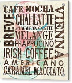 Cream Coffee Of The Day 1 Acrylic Print by Debbie DeWitt