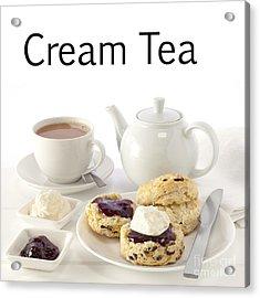 Cream Tea Acrylic Print by Colin and Linda McKie