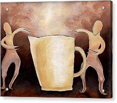 Van Dyke Brown Acrylic Print featuring the drawing Creator Of The Coffee by Keith Gruis