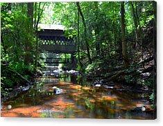 Creek Bridge Acrylic Print by Bob Jackson