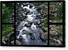 Creek Flow Polyptych Acrylic Print by Peter Piatt