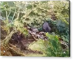 Creekside Smith Gilbert Gardens Acrylic Print by Elizabeth Carr