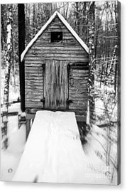 Creepy Cabin In The Woods Acrylic Print by Edward Fielding