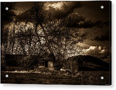 Creepy House One Acrylic Print by Derek Haller