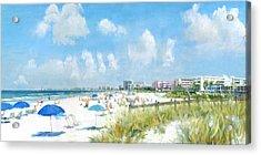 Crescent Beach On Siesta Key Acrylic Print by Shawn McLoughlin