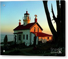Crescent City Lighthouse Acrylic Print by Chad Rice