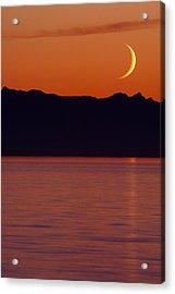 Crescent Moon Acrylic Print by Jim Lundgren