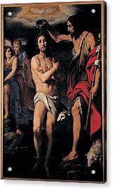 Crespi Daniele, The Baptism Of Christ Acrylic Print by Everett