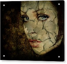 Cried For No One Acrylic Print by Marie  Gale