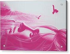 'crimson Light' Acrylic Print by Christian Chapman Art