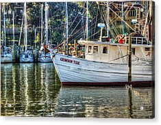 Crimson Tide In The Sunshine Acrylic Print by Michael Thomas