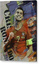 Cristiano Ronaldo - B Acrylic Print by Corporate Art Task Force