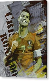 Cristiano Ronaldo Acrylic Print by Corporate Art Task Force