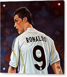 Cristiano Ronaldo Acrylic Print by Paul Meijering