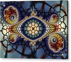 Crochet Work-geometric Abstraction Acrylic Print by Karin Kuhlmann