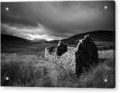 Crofters Cottage Ruin Acrylic Print by Dave Bowman