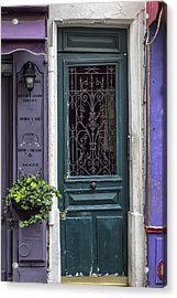 Crooked Door In Montmartre Acrylic Print by Georgia Fowler