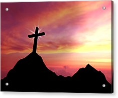 Cross Acrylic Print by Aged Pixel