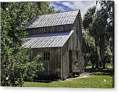 Cross Creek Barn Acrylic Print by Lynn Palmer